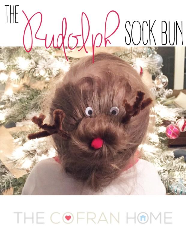 The Rudolph Sock Bun Pic