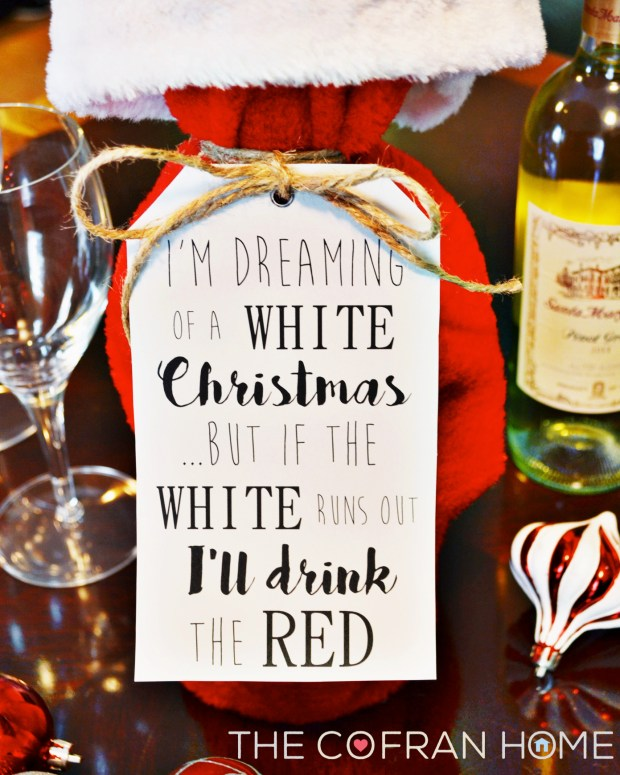 White Christmas Wine Tag1