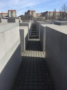 At the edge of the Memorial for Murdered Jews in Europe