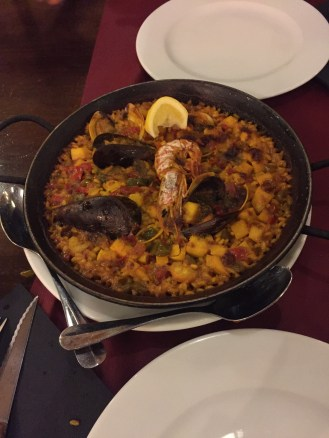 Paella! OMG this seafood paella was simply incredible