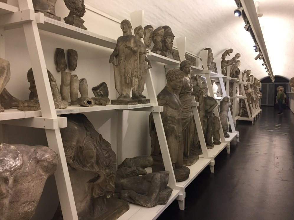 Pieces of Thorvaldsen's sculptures that show his process