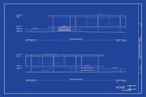 Blueprint of a two-story house