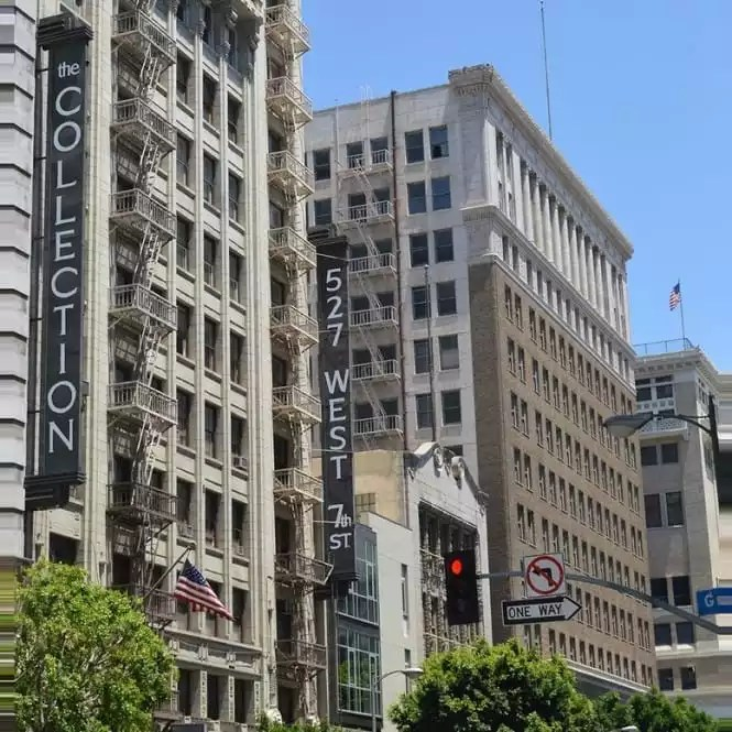 The Downtown Los Angeles Square that Houses Our Downtown Modern Office Building - The Collection
