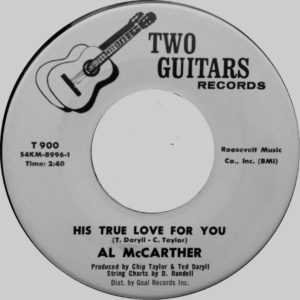 Al McCarther ‎– His True Love For You