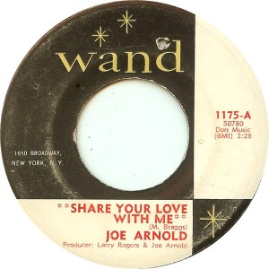 Joe Arnold – Share Your Love With Me / Soul Trippin'