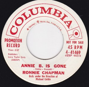 Ronnie Chapman ‎– In The Beginning / Annie B. Is Gone
