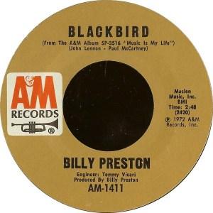 Billy Preston- Will It Go Round In Circles/ Blackbird