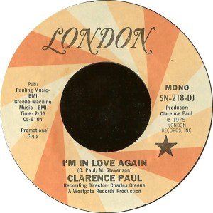 Clarence Paul- I'm In Love Again