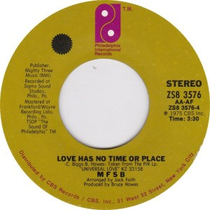 MFSB - TLC (Tender Lovin'Care) / Love Has No Time Or Place