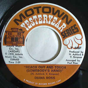 Diana Ross ‎– Ain't No Mountain High Enough / Reach Out And Touch (Somebody's Hand)