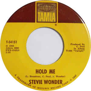 Stevie Wonder – I Was Made To Love Her / Hold Me