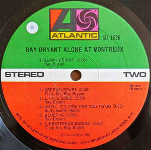 Ray Bryant- Alone At Montreux
