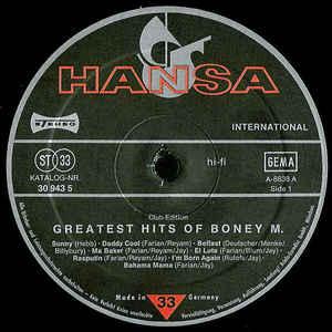 Boney M- Greatest Hits Of Boney M
