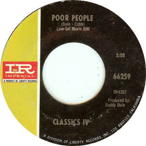 Classics IV- Spooky/ Poor People