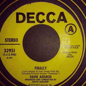David Axelrod- Finally