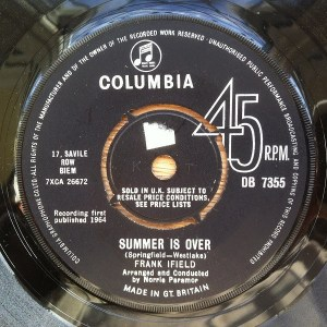 Frank Ifield- Summer Is Over/ True Love Ways