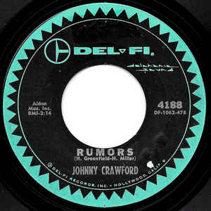 Johnny Crawford- Rumors/ No One Really Loves A Clown