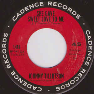 Johnny Tillotson- It Keeps Right On A- Hurtin'