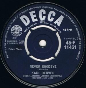 Karl Denver- Never Goodbye