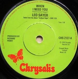 Leo Sayer- When I Need You