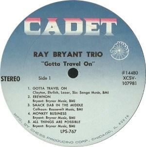 Ray Bryant Trio- Gotta Travel On