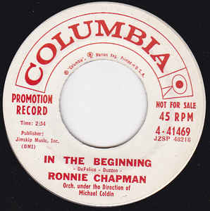 Ronnie Chapman- In The Beginning/ Annie B. Is Gone