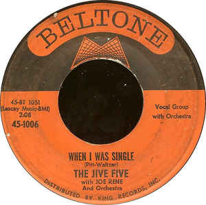 The Jive Five- My True Story/ When I Was Single