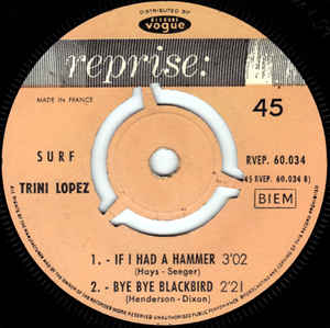 Trini Lopez- Surf- If I Had A Hammer