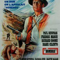 AFFICHE ORIGINALE HOMBRE Paul Newman