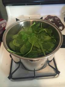 Boil spinach