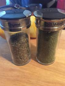 Gather thyme and dill weed