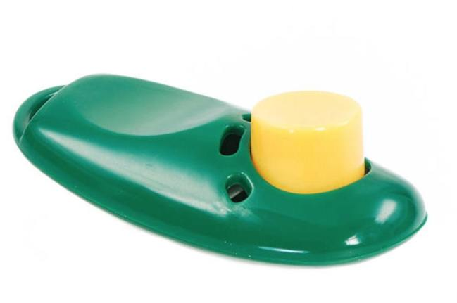 clicker dog training green and yellow