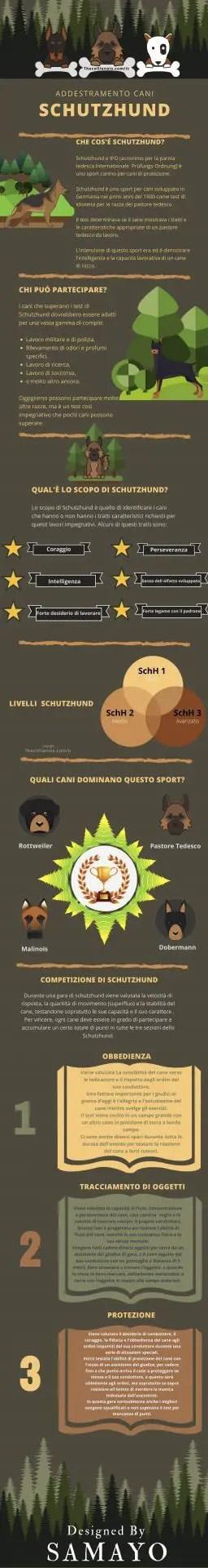 Addestramento cani Schutzhund infografica 2019