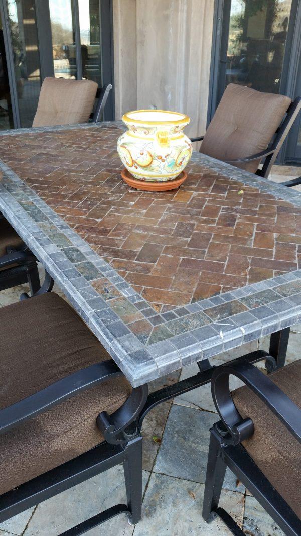 how to repair broken granite tile table