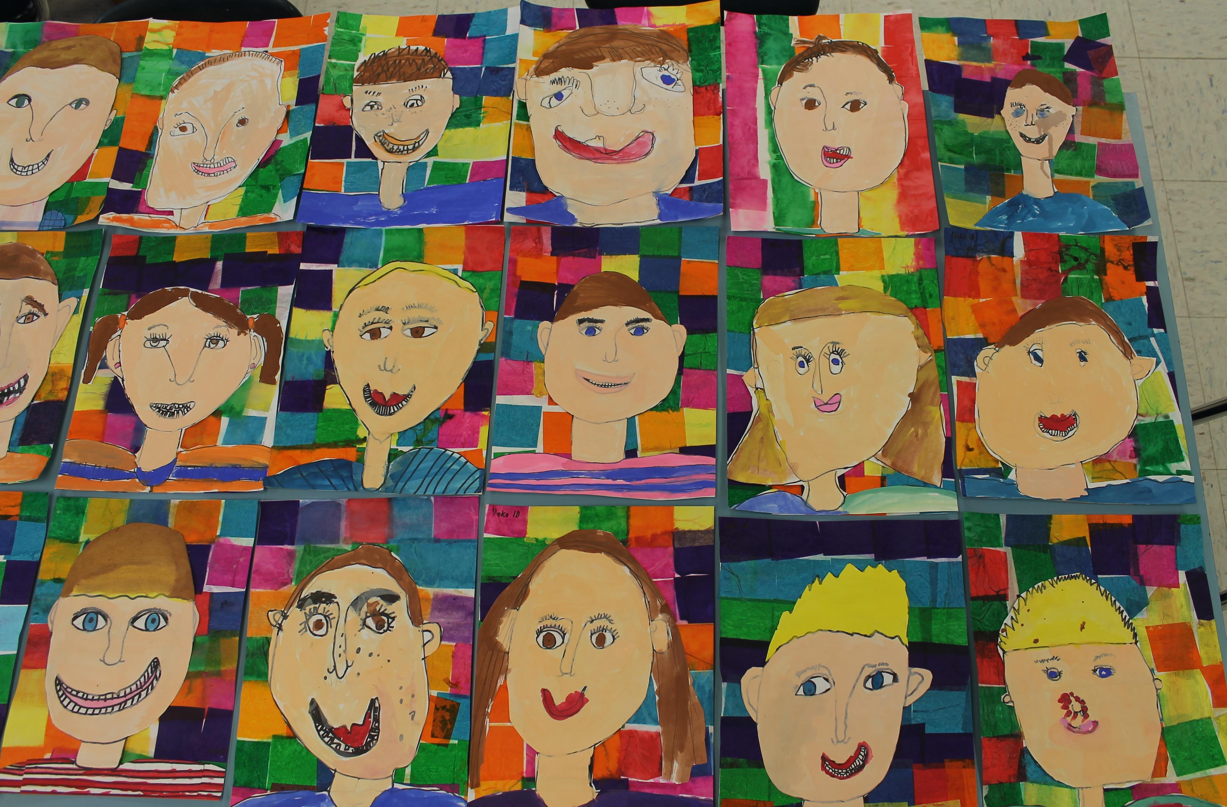 Grade 1 Self Portraits