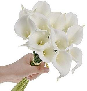 Calla Lily Latex Real Touch Flower Bouquets