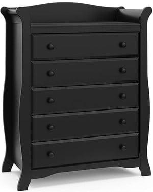 black changing table dresser