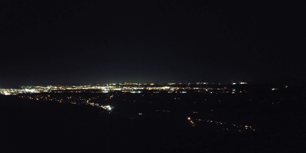 City lights at nighttime at Lookout Mountain