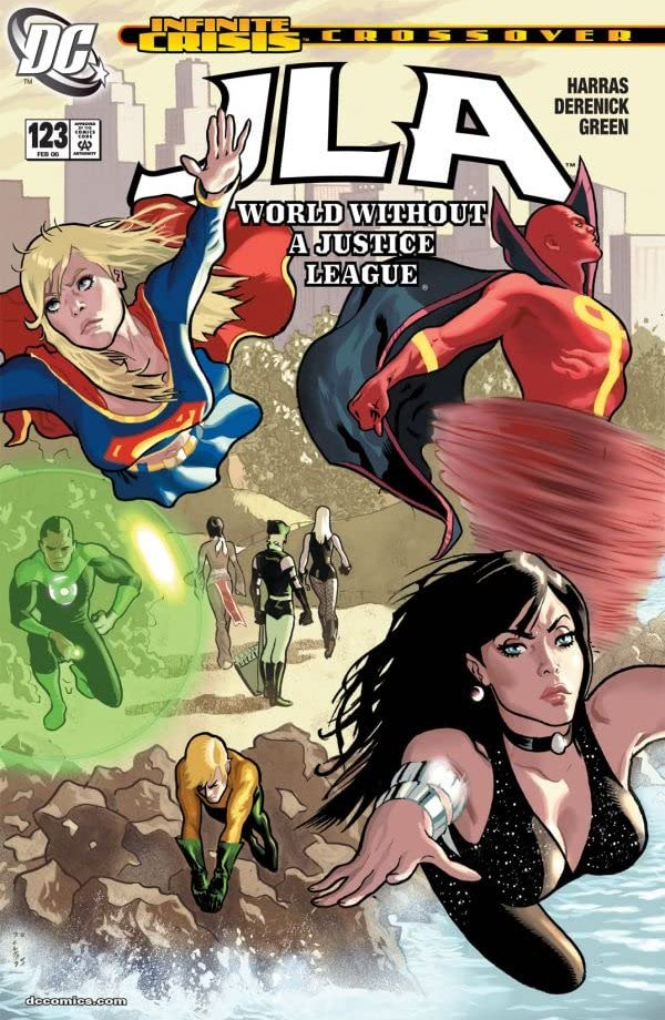 world without justice league infinite crisis crossover
