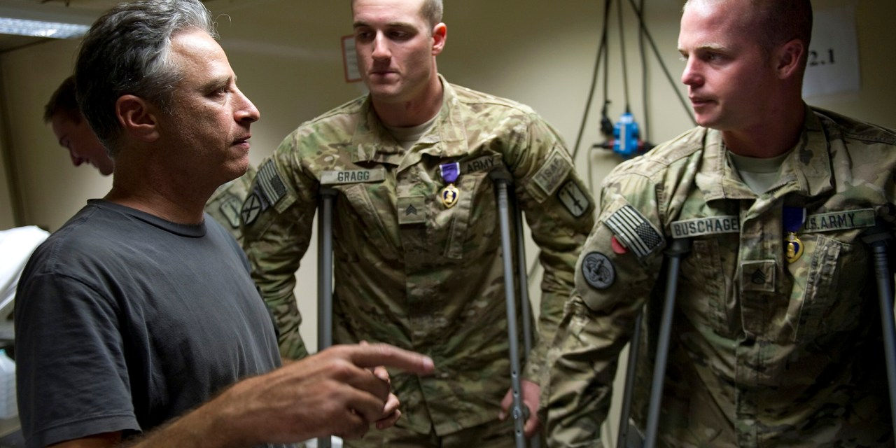 Surprise! Jon Stewart's weekend visit in Afghanistan boosts U.S. troop morale