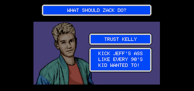 "Play the interactive YouTube game version of ""Saved by the Bell"""