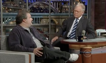 Artie Lange returns to the Late Show with David Letterman