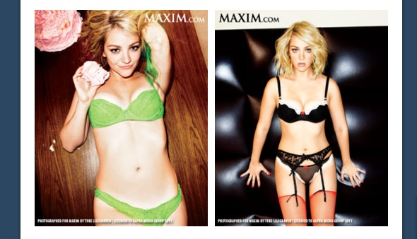 SNL's Abby Elliott in Maxim