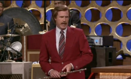 "Ron Burgundy announces ""Anchorman 2"" deal on Conan"