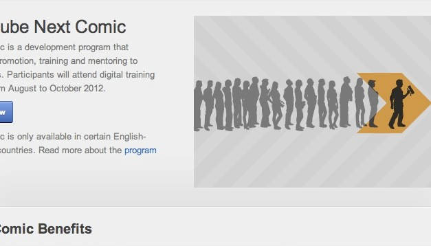 YouTube accepting applications for its Next Comic program