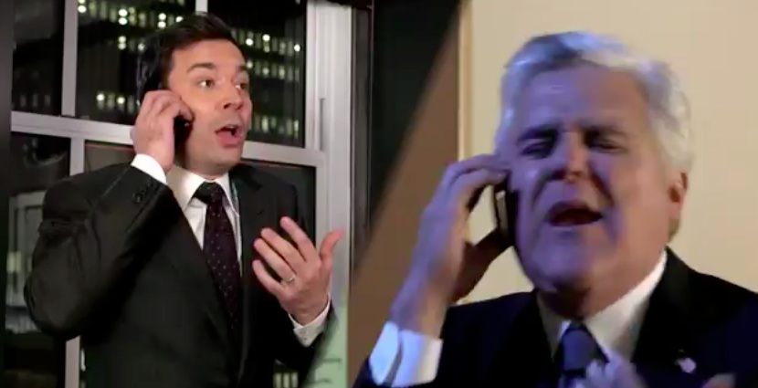 "Here is one video to dispel all of the rumors that NBC is going to screw up the Leno-Fallon ""Tonight"" transition, in song"