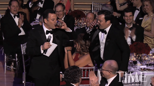 Jimmy Kimmel's five-drink toast to his fellow Time 100 influencers