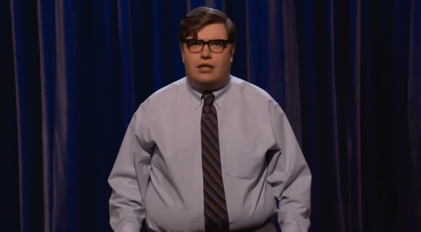 Erik Charles Nielsen's stand-up TV debut on Conan