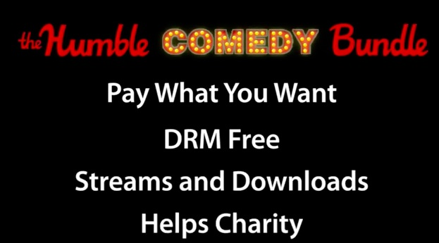 Check out the Humble Comedy Bundle: Buy seven great stand-up sets, give the $ to charity!
