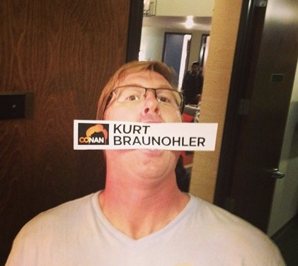 Kurt Braunohler reveals fun things to do to strangers, strange things about his childhood, on Conan